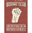 sport club retro font vector image