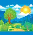 spring theme landscape 5 vector image