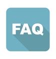 Square FAQ icon vector image vector image