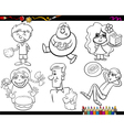 sweets and kids coloring page set vector image vector image