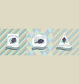 three colored labels with hyacinth vector image vector image