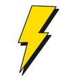 thunder energy cartoon vector image