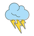 thunderbolts and cloud weather icon image vector image vector image