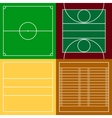 Top view of sport fields set vector image vector image