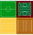 top view sport fields set vector image vector image