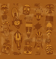 tribal mask seamless texture vector image