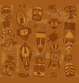 tribal mask seamless texture vector image
