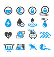 water energy icon vector image vector image