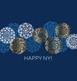 xmas holiday white and gold elegant snowflake card vector image vector image