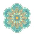 Zentangle stylized color Arabic Indian Mandala vector image vector image