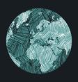 Earth Sketch vector image