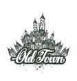 Old Town sketch artwork vector image