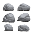 Set of Rocks and stones different shapes vector image