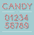 candy cane font - numbers vector image