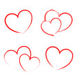 heart draw handmade icon symbol logo creative vector image