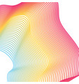 rainbow lines abstract background vector image