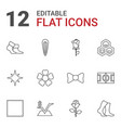 12 pattern icons vector image vector image