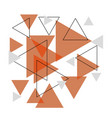 abstract orange triangle banner background vector image