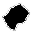black silhouette of the country lesotho vector image vector image