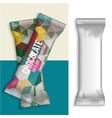 blank foil food snack vector image vector image