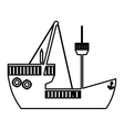 boat or ship pictogram icon image vector image vector image