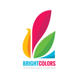 Bright colors - logo template vector image vector image