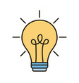 bulb light idea line and fill style icon vector image vector image