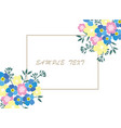 business card floral vector image vector image