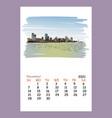 calendar sheet layout november month 2021 year vector image