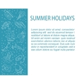 card with summer holiday line icons vector image