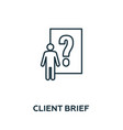 client brief icon symbol creative sign from vector image