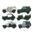 colored pictures of military heavy vehicles vector image