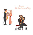 couples in love at valentine s day vector image vector image