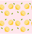 cut lemon pink pattern background image vector image