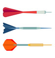 dart arrows small missiles with different shape vector image vector image