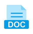 DOC File vector image