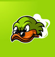 duck mascot logo vector image