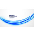 elegant blue presentation wave design vector image vector image