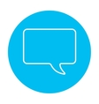 Empty speech square line icon vector image vector image