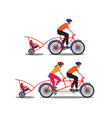 Father and mother biking with little son vector image vector image