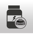 fitness sport bag icon protein bottle vector image