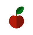 flat apple icon isolated on white vector image