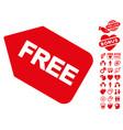 free sticker icon with dating bonus vector image