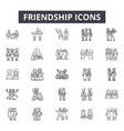 friendship line icons for web and mobile design vector image vector image
