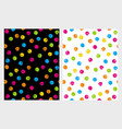 funny grunge colorful dots patterns vector image