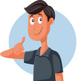 funny nice friendly guy with thumbs up vector image vector image