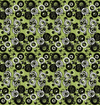 Green abstract background with circles vector image vector image
