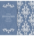 Grey Floral 3d Christmas and Invitation vector image vector image