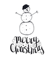 hand drawn christmas vector image vector image