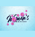 happy womens day floral greeting card vector image vector image